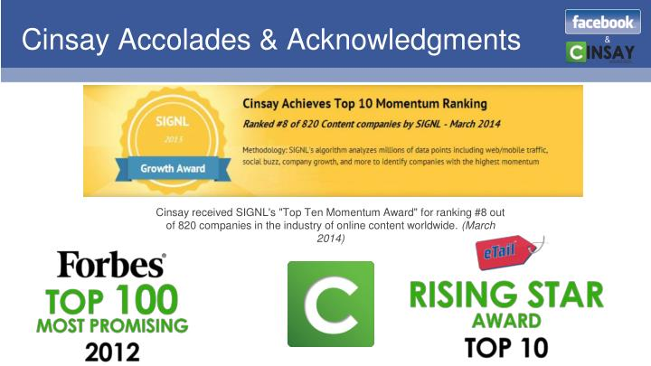 Cinsay Accolades & Acknowledgments