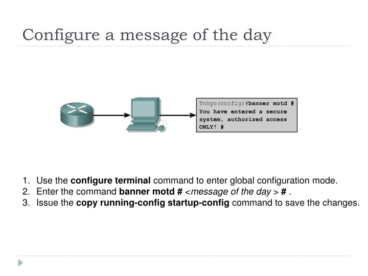 Configure a message of the day