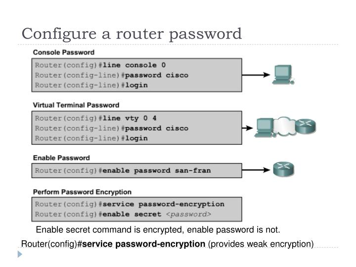 Configure a router password