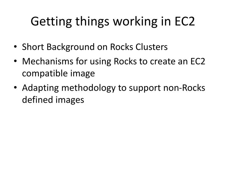 Getting things working in EC2
