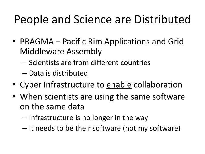 People and Science are Distributed