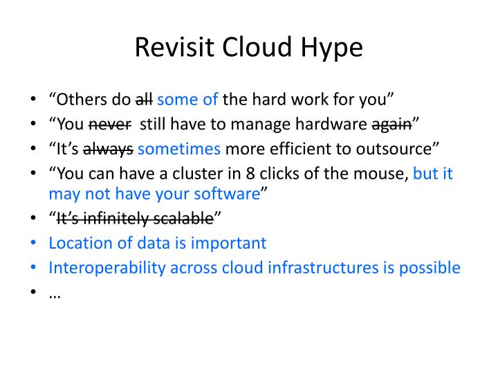 Revisit Cloud Hype