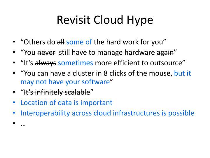 Revisit Cloud Hype