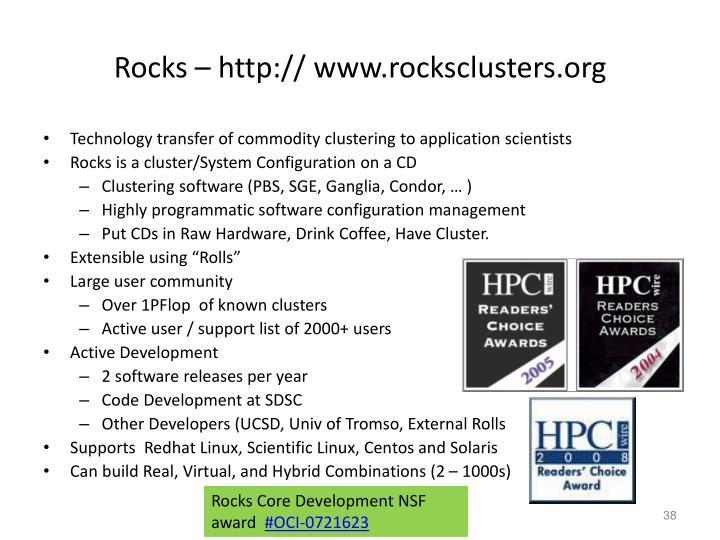Rocks – http:// www.rocksclusters.org