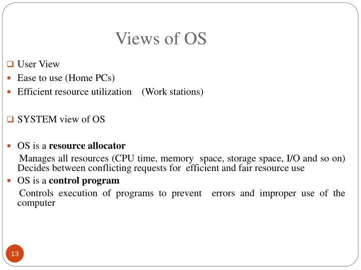 Views of OS