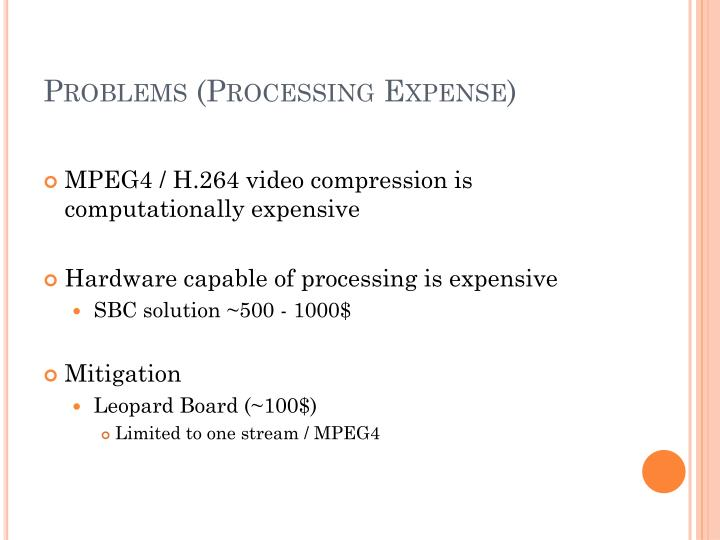 Problems (Processing Expense)