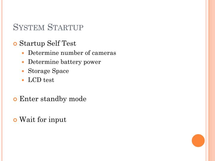 System Startup