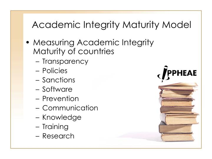 Academic Integrity Maturity Model