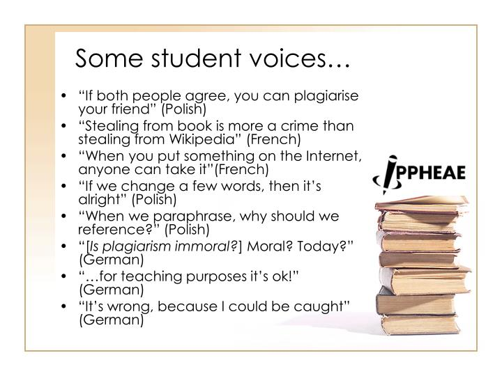Some student voices…