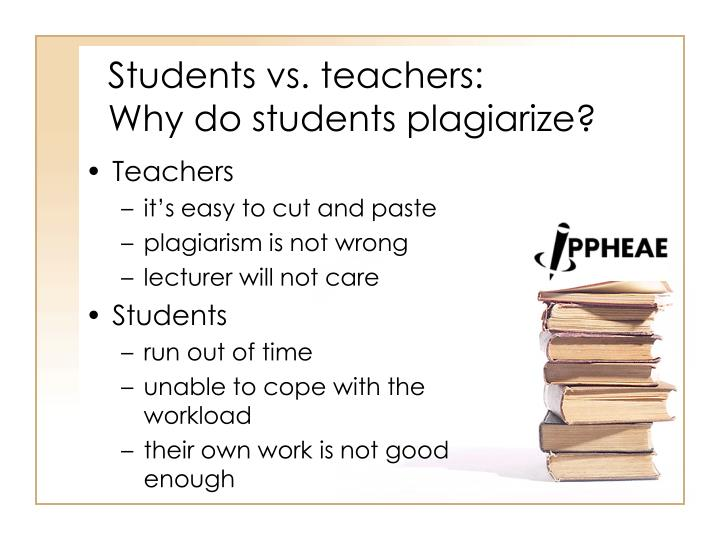 Students vs. teachers: