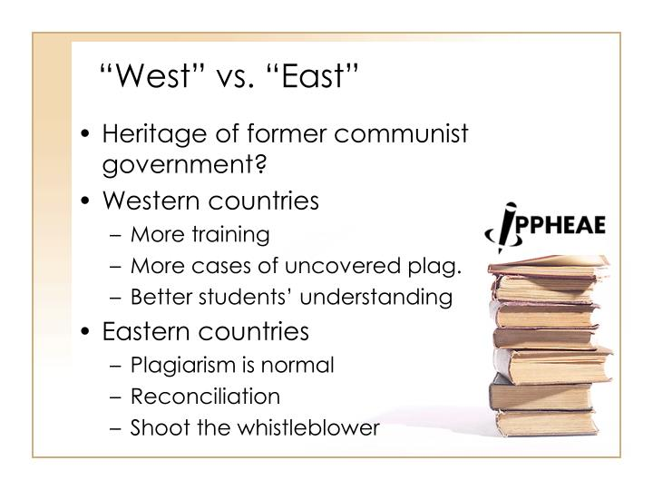 """West"" vs. ""East"""