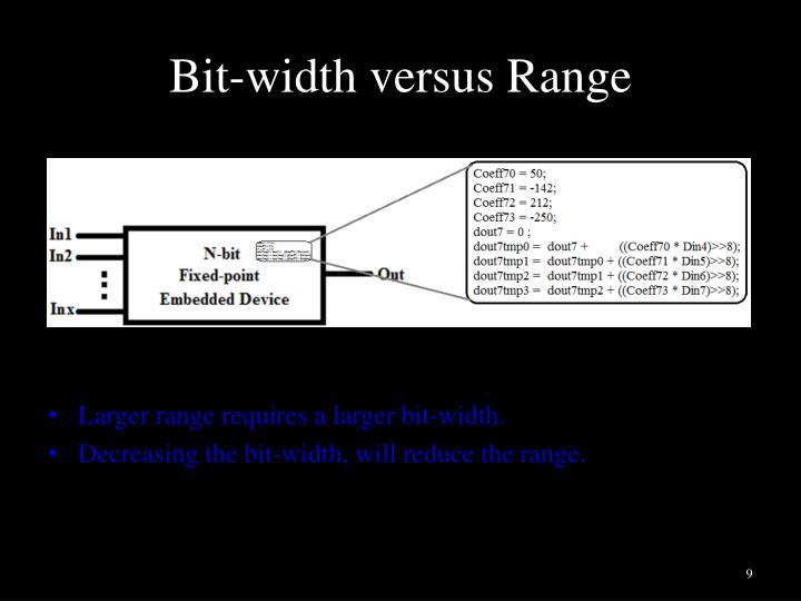 Bit-width versus Range