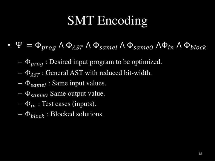 SMT Encoding