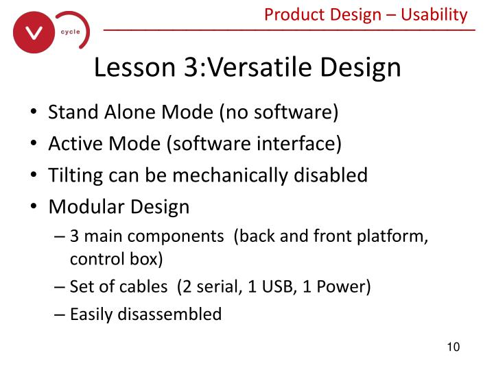 Product Design – Usability