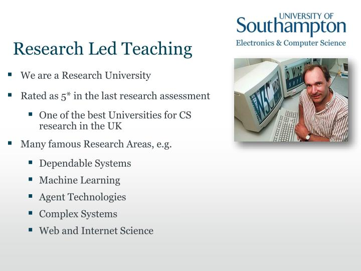 Research Led Teaching