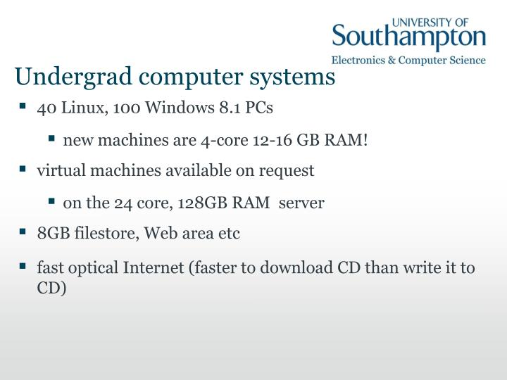 Undergrad computer systems