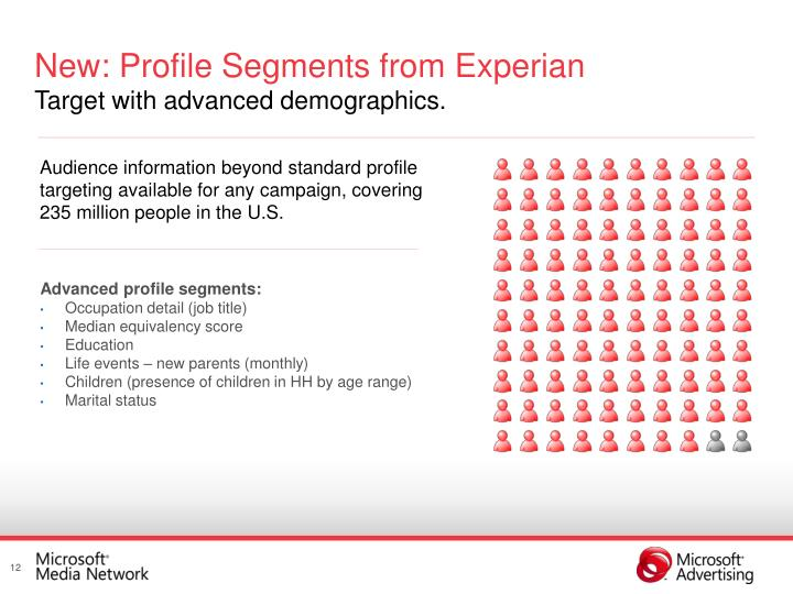 New: Profile Segments from Experian
