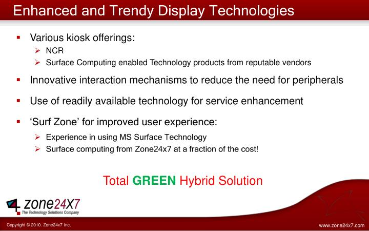 Enhanced and Trendy Display Technologies