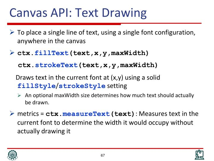 Canvas API: Text Drawing