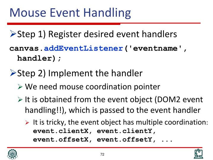 Mouse Event Handling