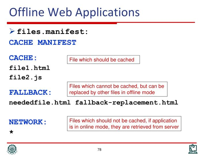 Offline Web Applications