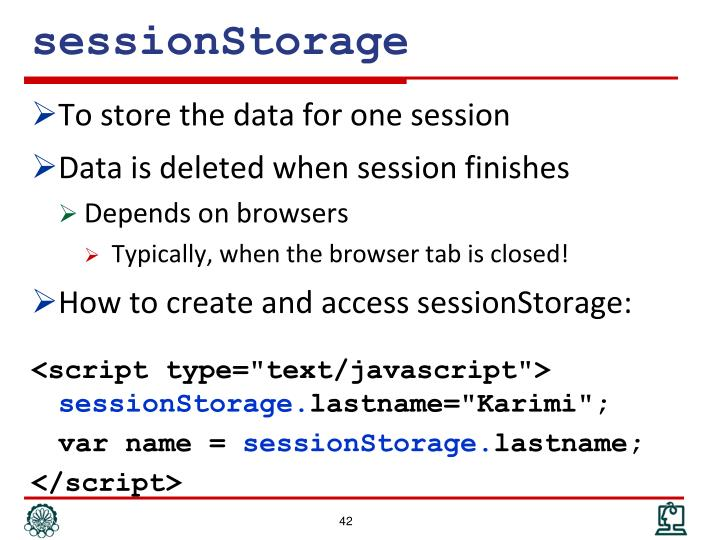 sessionStorage