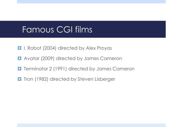 Famous CGI films