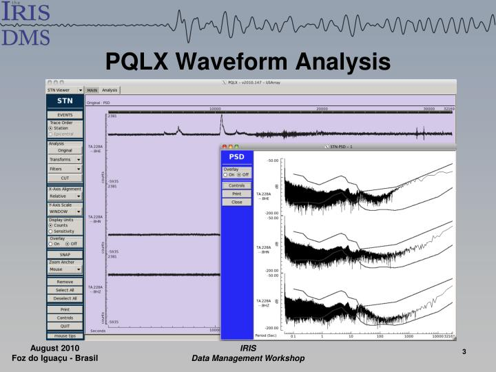 PQLX Waveform Analysis