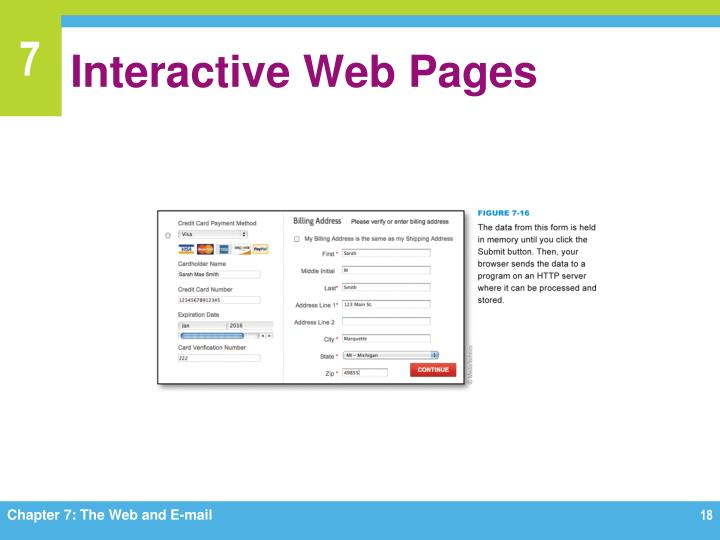 Interactive Web Pages