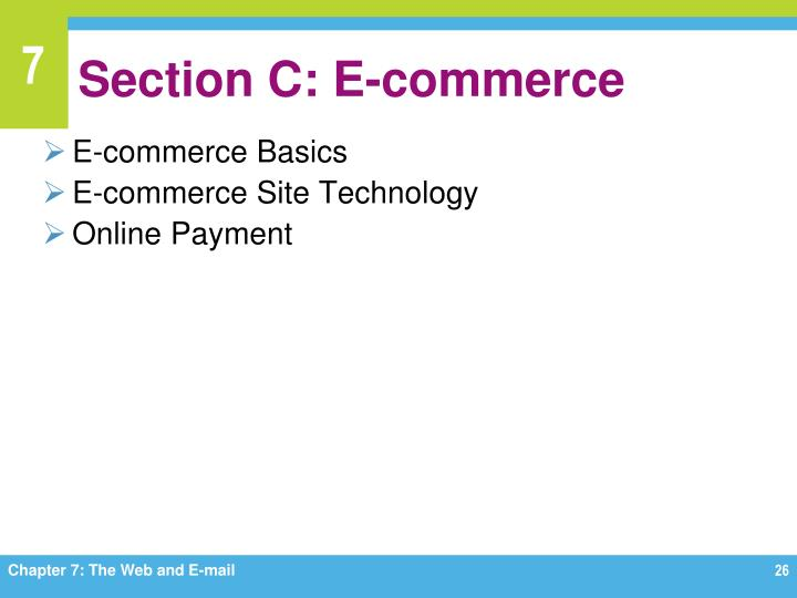 Section C: E-commerce