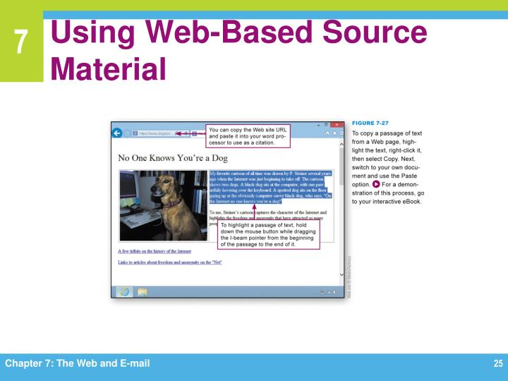 Using Web-Based Source Material