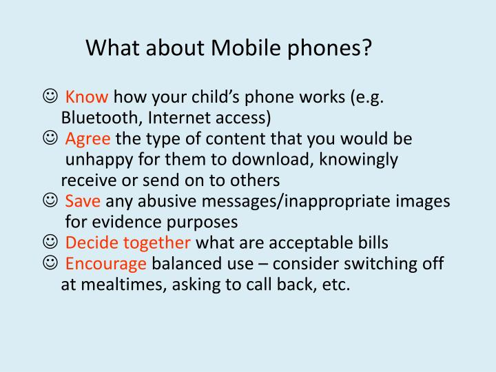 What about Mobile phones?