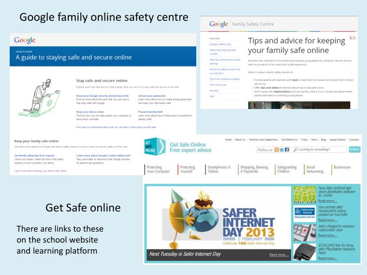Google family online safety centre