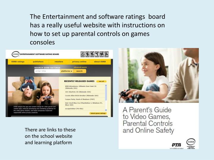 The Entertainment and software ratings  board has a really useful website with instructions on how to set up parental controls on games consoles