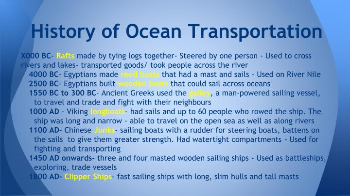 History of Ocean Transportation
