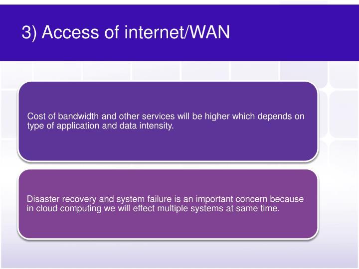3) Access of internet/WAN