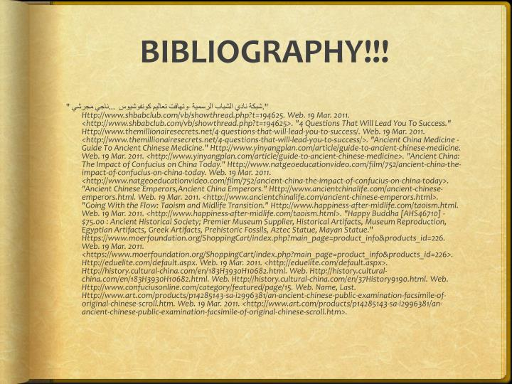 Bibliography!!!
