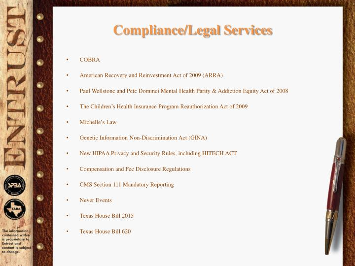 Compliance/Legal Services
