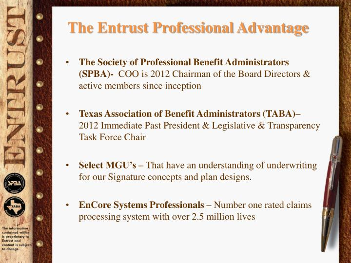 The Entrust Professional Advantage