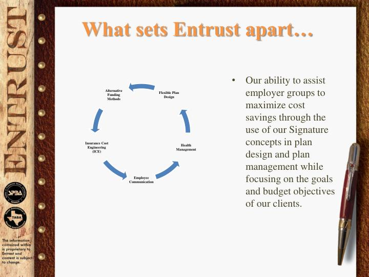What sets Entrust apart…