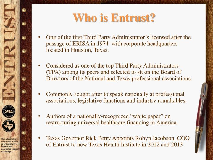 Who is Entrust?
