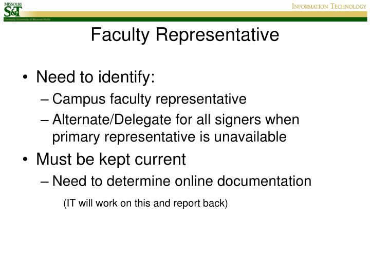Faculty Representative