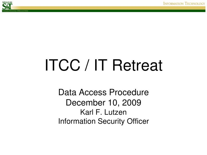Itcc it retreat