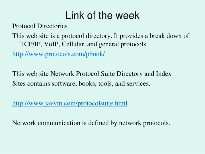 Link of the week
