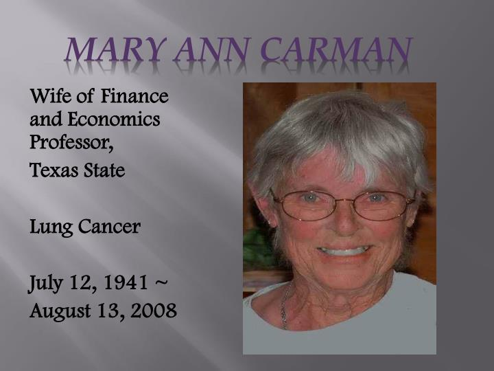 Mary Ann Carman