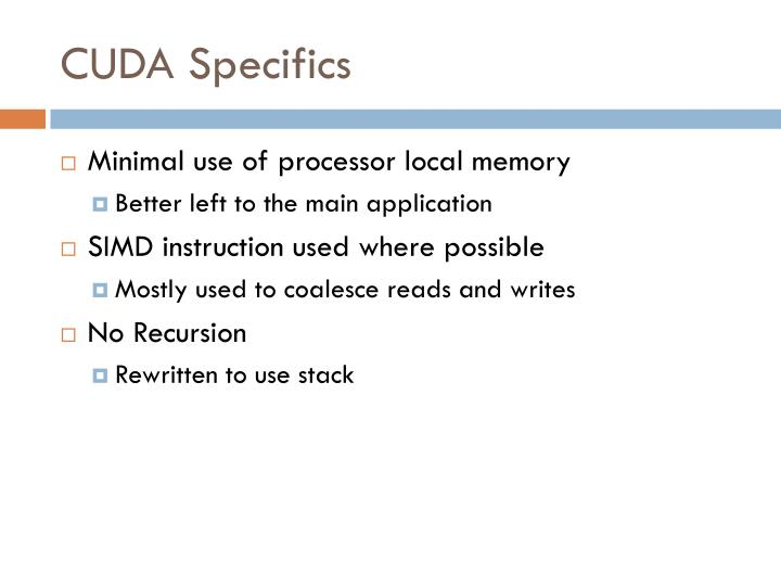 CUDA Specifics