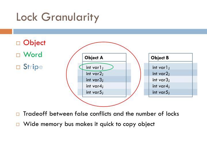 Lock Granularity