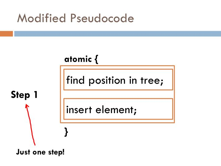 Modified Pseudocode