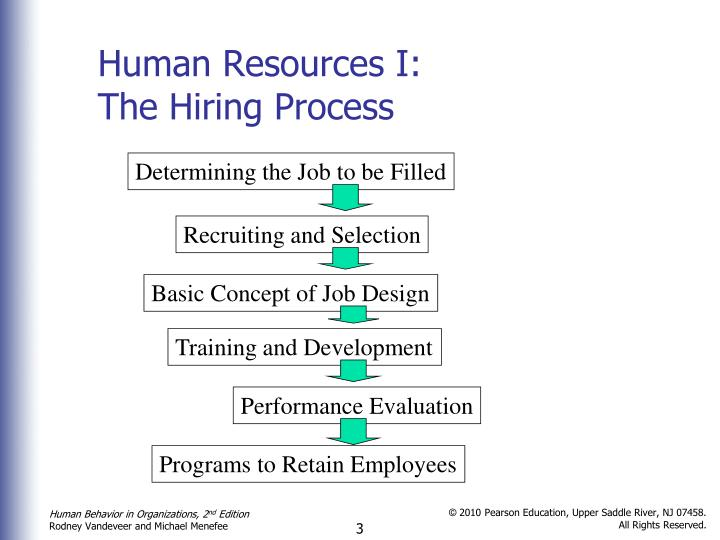 Human resources i the hiring process