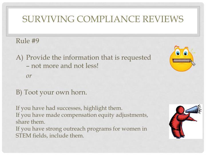 Surviving Compliance Reviews